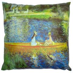 Oriental Furniture Renoir On The Seine Throw Pillow