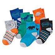 Okie Dokie® Dinosaur Low-Cut Socks - Boys 2-6