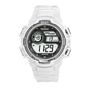 Armitron Mens White Strap Watch-40/8347wht