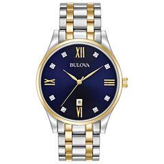 Bulova Mens Two Tone Bracelet Watch-98d130