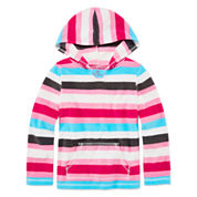 Okie Dokie® Long-Sleeve Comfy Fleece Hoodie - Preschool Girls 4-6x