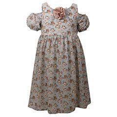 Bonnie Jean Short Sleeve Cap Sleeve Party Dress - Big Kid Girls