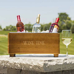 Cathy's Concepts Personalized Wood Wine Trough