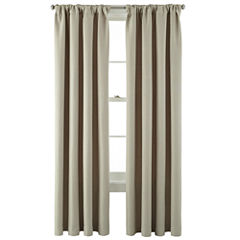 MarthaWindow™ Hampton Basketweave Rod-Pocket/Back-Tab Curtain Panel