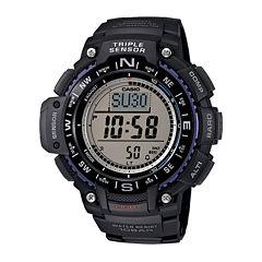 Casio® Triple Sensor Mens Black Resin Strap Digital Sport Watch SGW1000-1A
