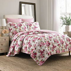 Laura Ashley Lidia Floral Quilt Set