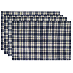 Metro Farmhouse Set of 4 Plaid Placemats