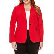Liz Claiborne® Long-Sleeve One-Button Jacket - Plus