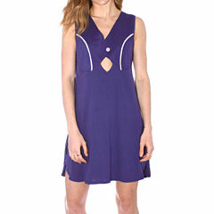 Pacifica Knit Sleeveless Round Neck Nightshirt