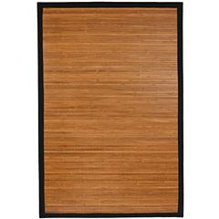 Oriental Furniture Burnt Bamboo Rectangular Rugs