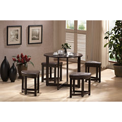 Baxton Studio Rochester 5-pc. Pub Set