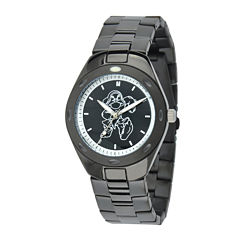disney men s watches for jewelry watches jcpenney disney grumpy mens black stainless steel watch