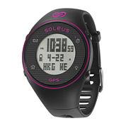 Soleus GPS One Black Silicone Strap Running Digital Sport Watch