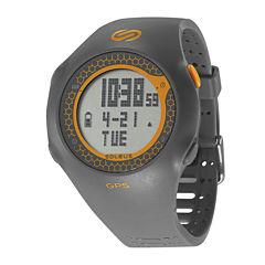 Soleus GPS Turbo Gray Silicone Strap Running Digital Sport Watch
