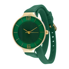 TKO ORLOGI Womens Green Silicone Strap Wrap Watch
