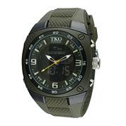 TKO ORLOGI Mens Green Silicone Strap Analog/Digital Chronograph Sport Watch
