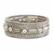 Natasha 3-pc. Crystal Silver-Tone Stretch Bracelet Set