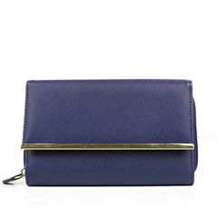 Mundi Big Fat Bar Trim Saffiano Wallet
