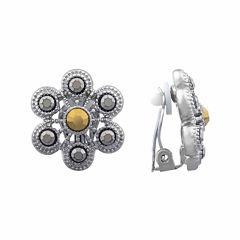 Liz Claiborne® Marcasite Clip-On Earrings