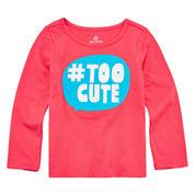 Okie Dokie® Long-Sleeve Appliqué Tee - Toddler Girls 2t-5t