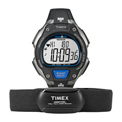 Timex® Ironman Road Trainer Heart Rate Monitor Black Dial Chronograph Watch T5K718F5
