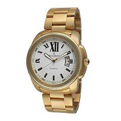 Peugeot® Mens Gold-Tone Stainless Steel Bracelet Watch 1047G