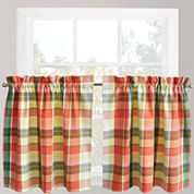 Park B. Smith® Plaid Stripe Rod-Pocket Window Tiers
