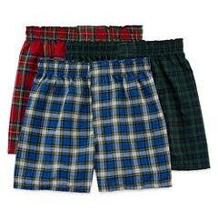 Hanes® 3-pk. ComfortFlex® Knit Boxers - Boys 6-20