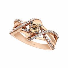 Levian Corp Le Vian Womens 3/4 CT. T.W. White Diamond 14K Gold Cocktail Ring