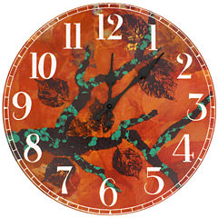 Oriental Furniture Rich Autumn By Gita Wall Clock