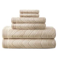 Liz Claiborne® Sculpted 6-pc. Cotton Bath Towel Set