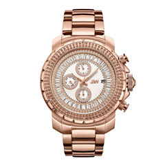 JBW 18k Rose Gold-Plated Stainless-Steel Titus Mens Rose Goldtone Bracelet Watch-J6347e