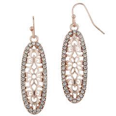 Bold Elements Clear Drop Earrings