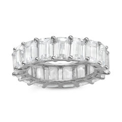 Diamonart Womens Greater Than 6 CT. T.W. Lab Created White Cubic Zirconia Sterling Silver Band