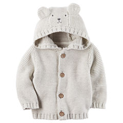 Carter's Hooded Neck Long Sleeve Cardigan - Baby