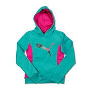 Puma® Tech Cat Long-Sleeve Knit Hoodie - Preschool Girls 4-6x