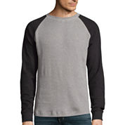 St. John's Bay® Long-Sleeve Thermal Baseball Shirt