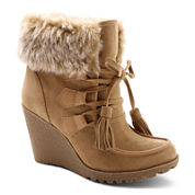 UNIONBAY® Peg Faux-Fur-Collar Booties