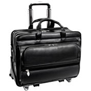 Franklin 17 Leather Detachable Wheeled Laptop Case