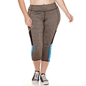 City Streets® Active Mesh Leggings - Juniors Plus