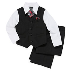 Striped 4-pc. Vest Set - Boys 4-10