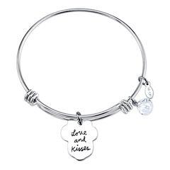 Disney Womens Minnie Mouse Silver Over Brass Charm Bracelet