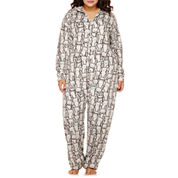 Flirtitude® Hooded Union Suit Pajamas - Plus