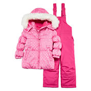 WeatherProof Heart Dot Fuchsia 2-pc. Snowsuit Set - Preschool Girls 4-6x