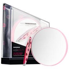 Tweezerman x HUDA BEAUTY Mini Slant Tweezer & 10x Mirror Duo