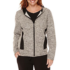 Made for Life™ Long Sleeve Zip Front Hooded Jacket-Talls