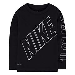 Nike N/A Long Sleeve Crew Neck T-Shirt-Preschool Boys