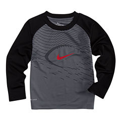 Nike N/A Long Sleeve Crew Neck T-Shirt-Preschool Boys