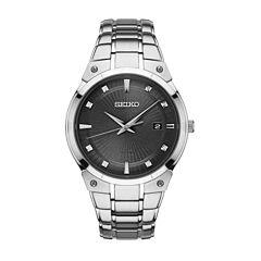 Seiko Mens Silver Tone Bracelet Watch-Sne429