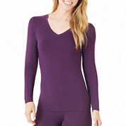 Cuddl Duds® Softwear Long-Sleeve V-Neck Shirt